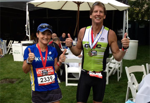 Foot drop sufferers, Beth and Todd, can still run marathons