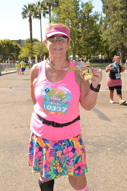 Marathon runner with foot drop