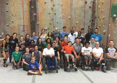 Aika's para-climbing community