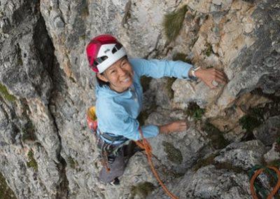 Aika rock climbing