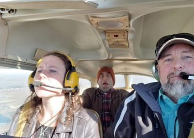 Becky Flying an Airplane