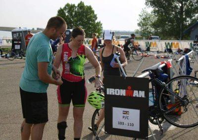 Sam Helping Becky Become an Ironman